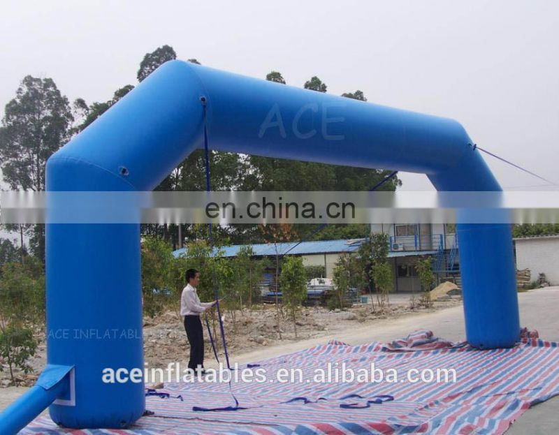 Blue advertising cheap inflatable ACE arch hot sale