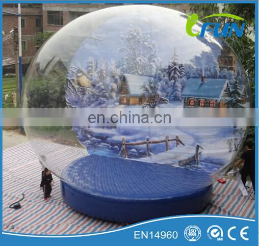 inflatable christmas snowball/christmas decoration snowball/giant customs snowball for christmas