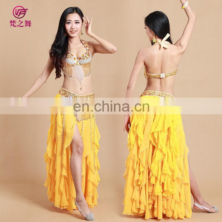 GT-1040 Arabic style beading tassel gold belly dance costumes