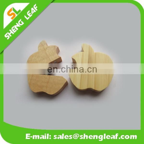 Novelty round shaped swivel wooden usb flash drive