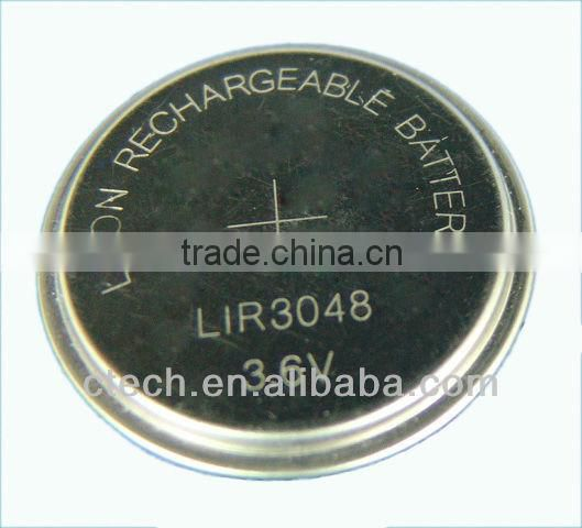 3.6v li-ion button rechargeable battery lithium ion battery