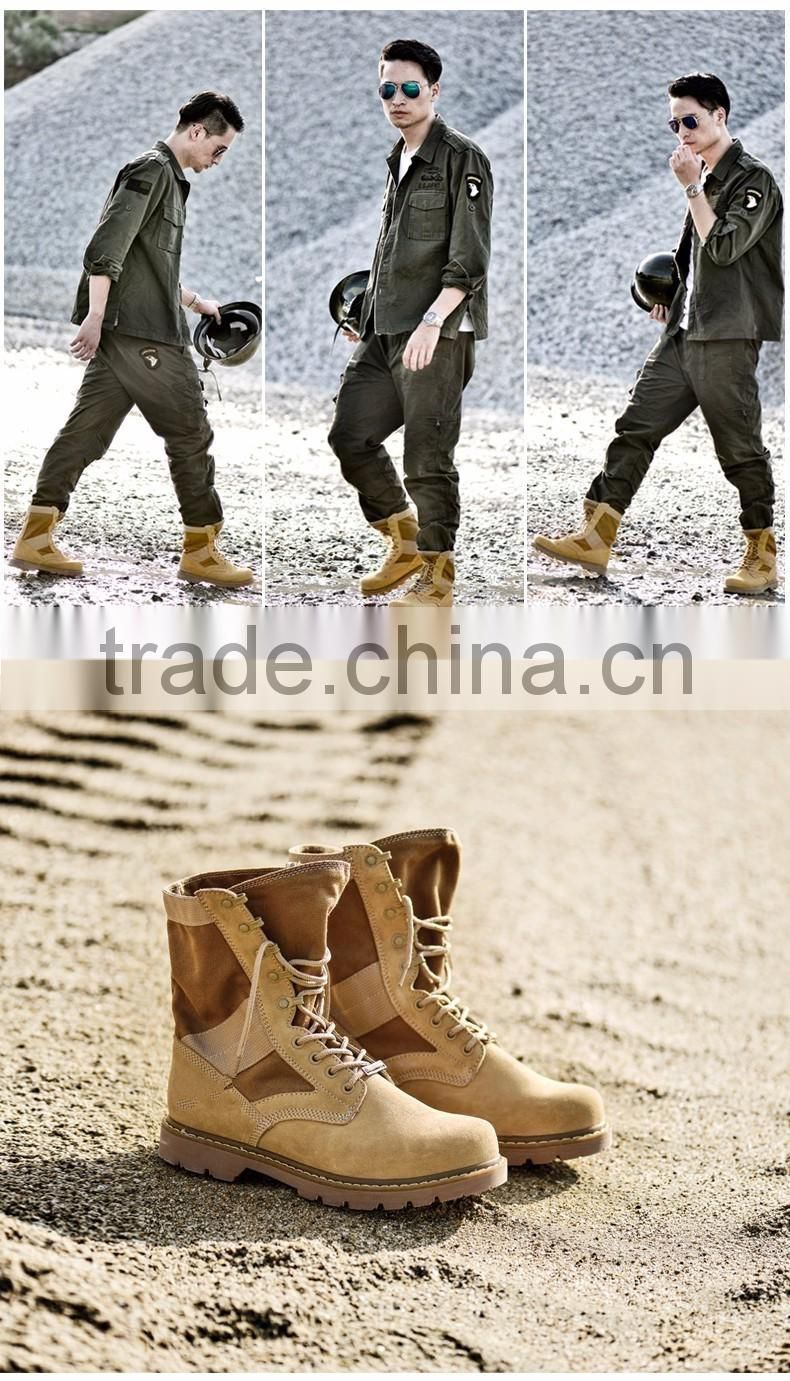 2016 Genuine Leather Unisex Tactical Boots Military Tactical Boots Men/Women Army Combat Mid-calf Boots Shoes