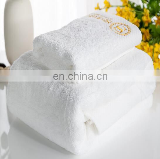 promotional cheap batten hotel towel with embossed logo