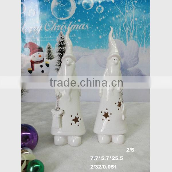 White glazed home decoration ornament ceramic gift items