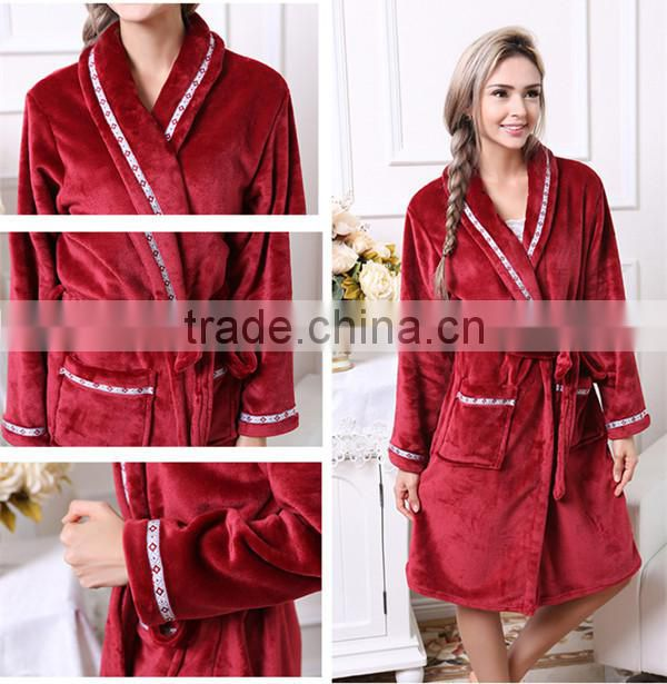 2015 newest Winter Couple Pajama for Robe