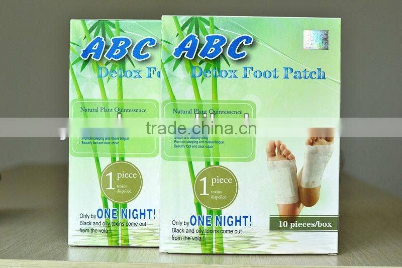 Best sell Herbal detox food patch, foot pad for sleep, bamboo vinegar foot pad plaster for health care