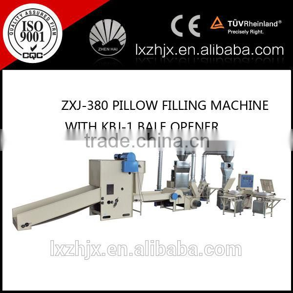 high quality high efficiency automatic pillow filling machine with bale opener