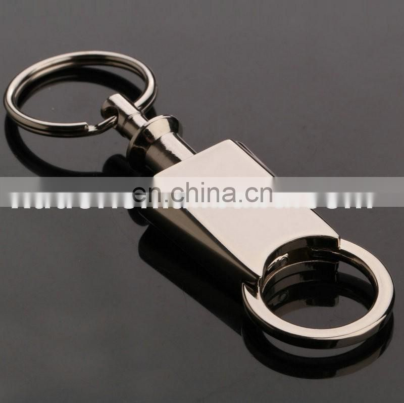 Double rings key holder automatic spring car keychain