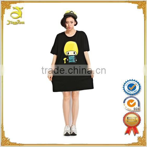 clothing factories in china OEM woman short sleeve extra long t shirt blank elongated t shirt