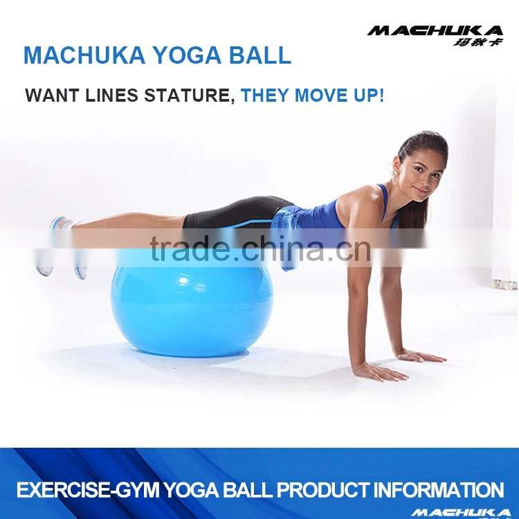 "MACHUKA New Exercise Ball & Air Pump for Yoga Fitness Pilates Sculpting 65cm 26"" Red"