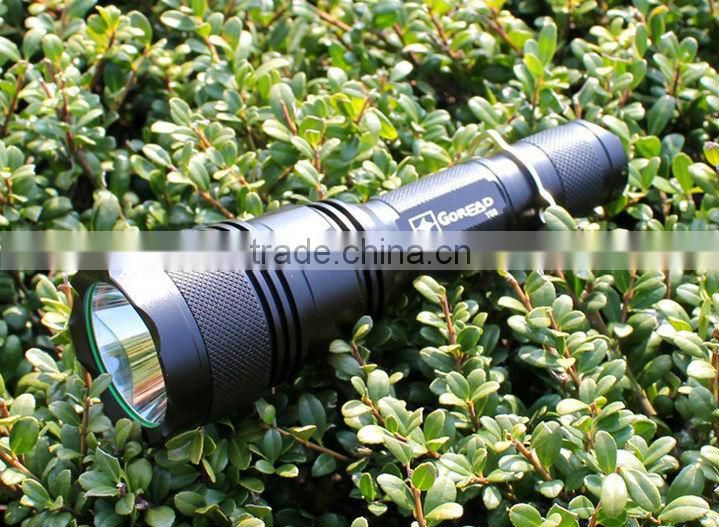 GOREAD Y68 High bright rechargeable 10W xml t6 led flashlight hunting light