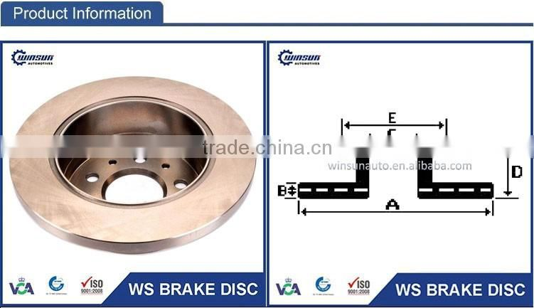 424930 08909450 Jumper Platform Chassis Brake Disc Used for Citroen