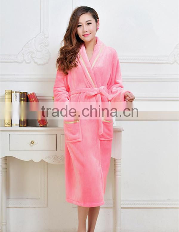 comfortable couple flannel fleece robe