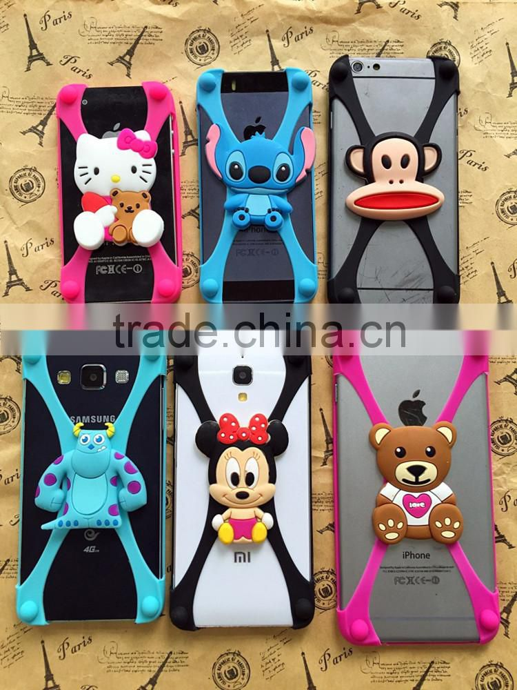 Factory price hot sell 3D cartoon universal silicone 3D phone case