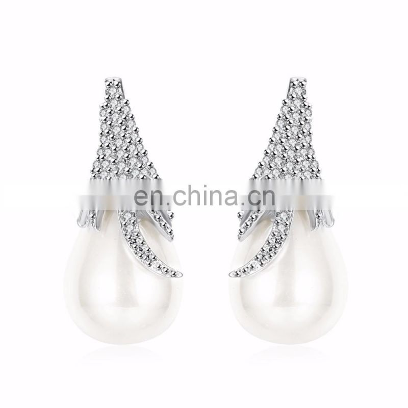 2017 Hot Selling Fancy Beautiful Designed Pearl Women Earrings Brincos