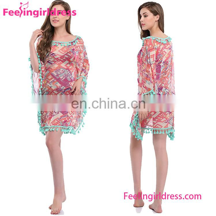 New Design 4 Color Fashion Summer Beach Dresses Sexy Top Quality