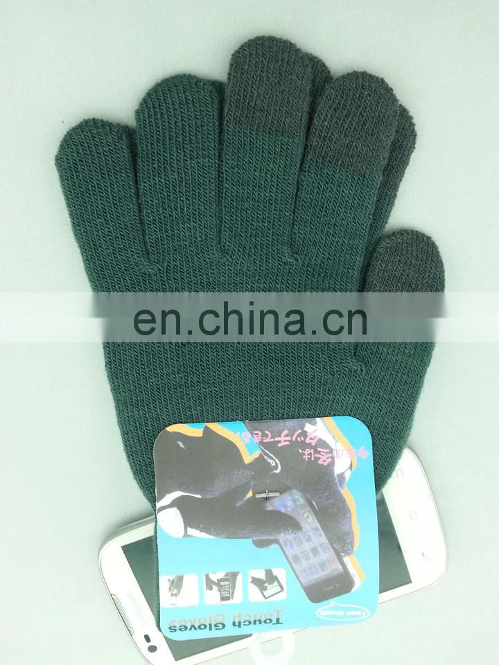 Wholesale Euro-american Winter Knitted Unisex gloves for touch screen iphone