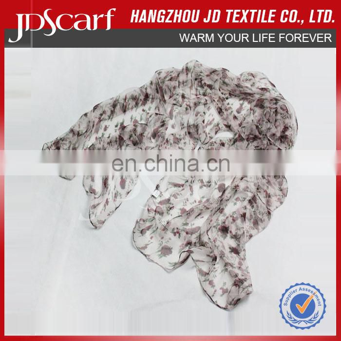 High quality new style new design silk crinkle scarf