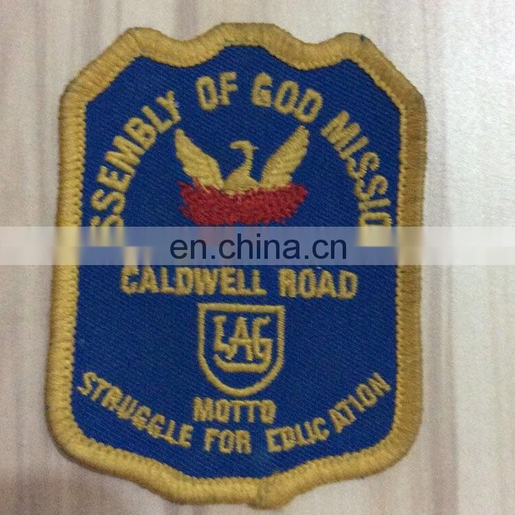 Customized fabric school embroidery Badges