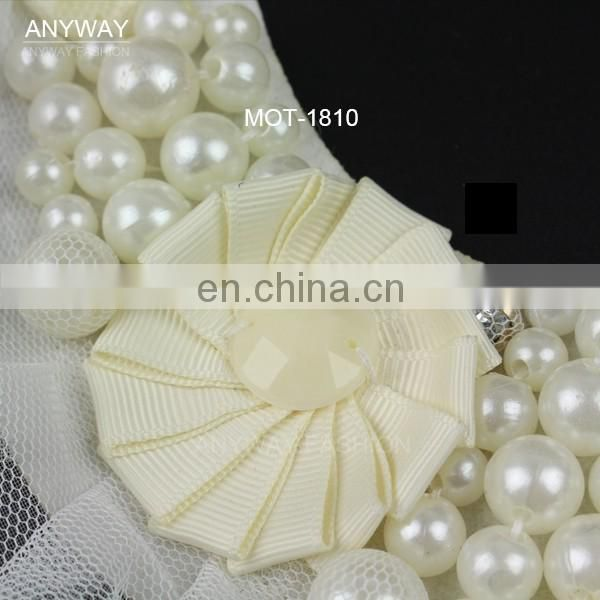 New fashion hot sale china manufacturer pearl collar for garment accessories