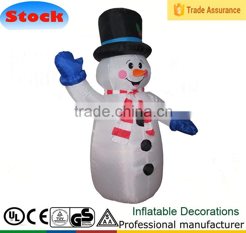 Christmas Inflatable Snowman with Broom Yard Outdoor Decoration