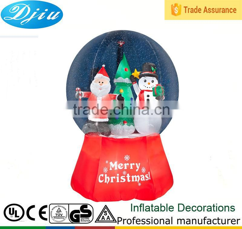 Christmas Santa Reindeer and Snowman Inflatable Snow Globe