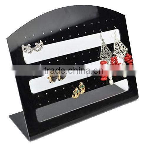 elegant high polish clear 6 tiers L shaped earring holder/earring display stand/acrylic jewelry holder factory