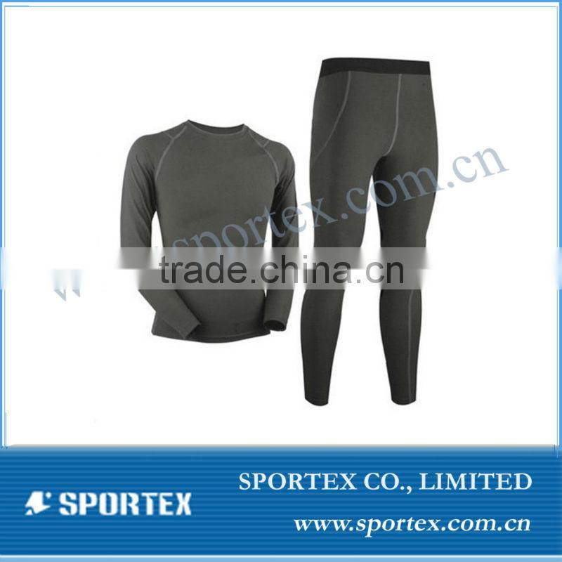 Custom Mens base layer ,warm thermal wear set for mens
