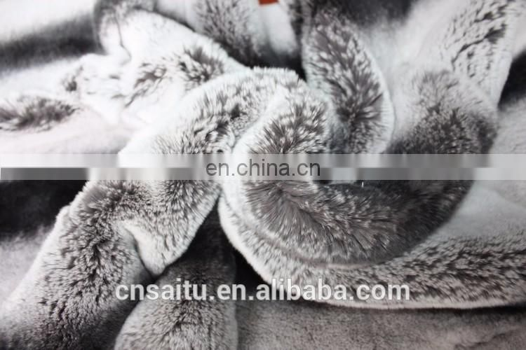 superior-quality rex rabbit fur throw finest fur materials rabbit fur blanket sumptuously plush feel
