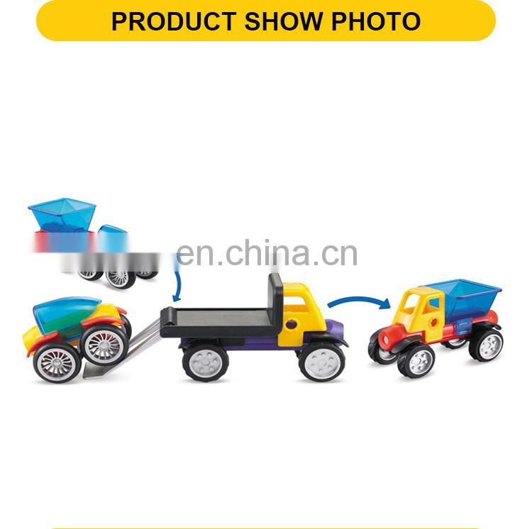 shantou kids car toys educational window trailer truck toy magnetic blocks