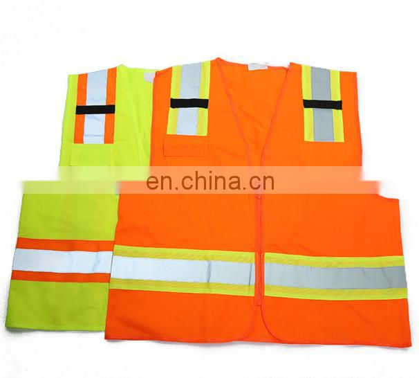 Factory direct sell Hi Vis 100% polyester Reflection Safety Reflective Vest