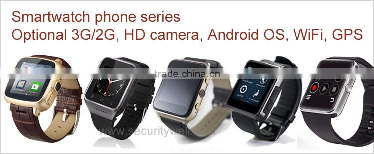 "1.6"" TFT Heart Rate 2G Watch Phone with optional voice control (Siri or Google Now)"