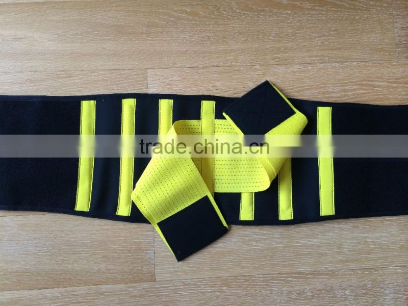Medical elastic waist belt hook and loop fastener waist slimming belt