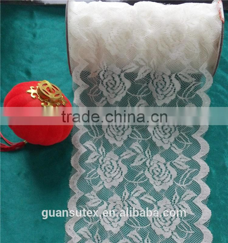 Gathered White Lace Trimming For Wedding Wedding Accessory/ Underwear