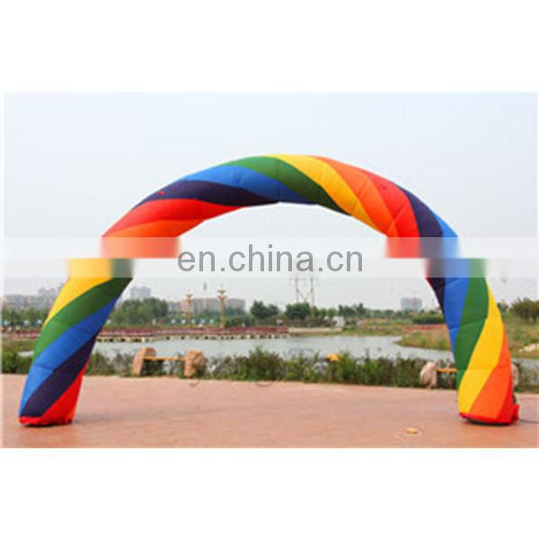 outdoor inflatable entrance arch inflatable rainbow arch with custom