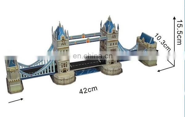 London tower bridge 3D paper puzzle toy construction
