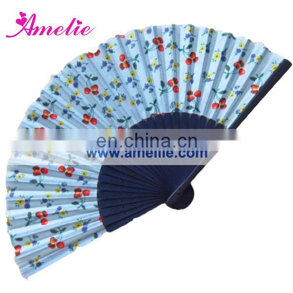AF1412 Good quality flowers pattern bamboo hand fans