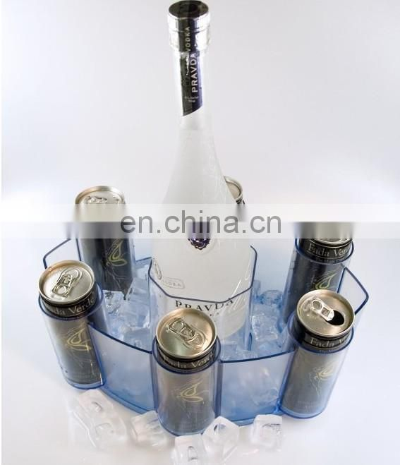 newest plastic ice bucket for vodka and energy drink can
