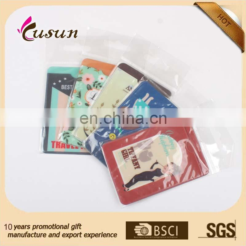2017 new design printed pvc id card holder