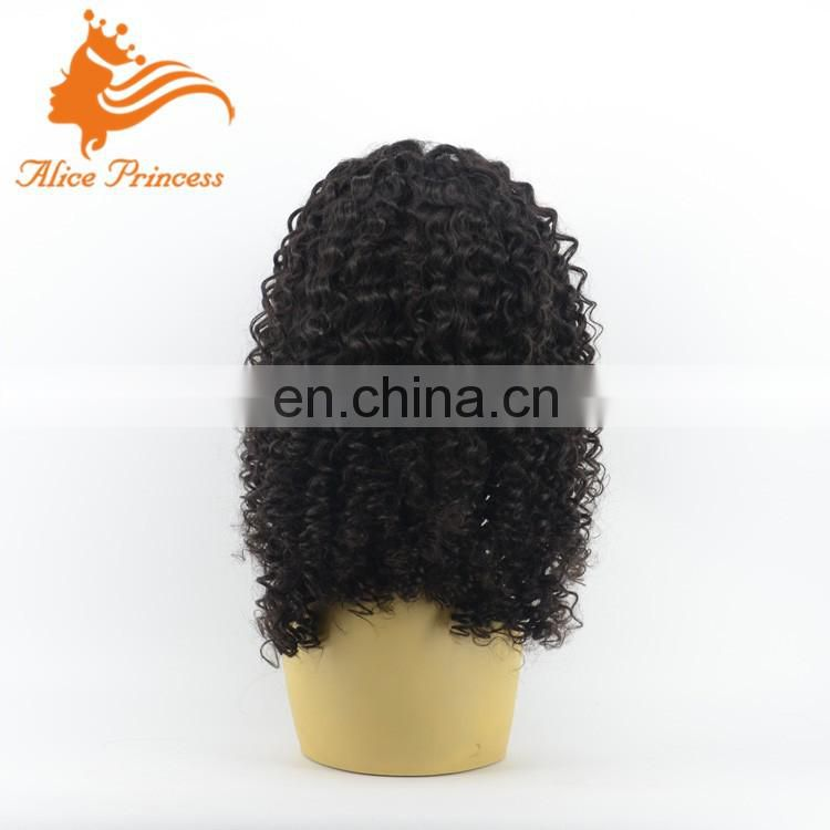 Hot Fashion Beauty Good Quality Virgin Hair Lace Wig Free Part Braided Human Hair Wigs