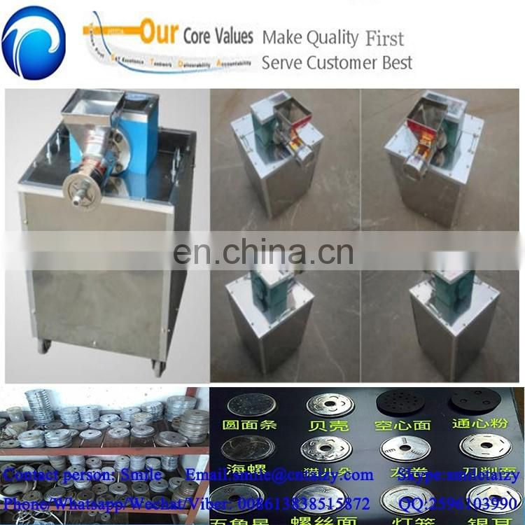 small shell type crisp straight macaroni style pasta extruding and making machine