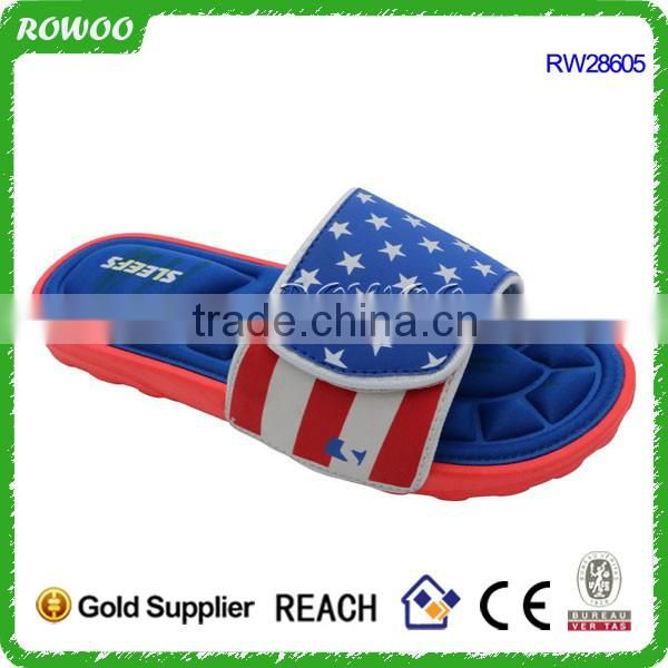 Stylish customed color indoor winter memory foam flip flop slippers