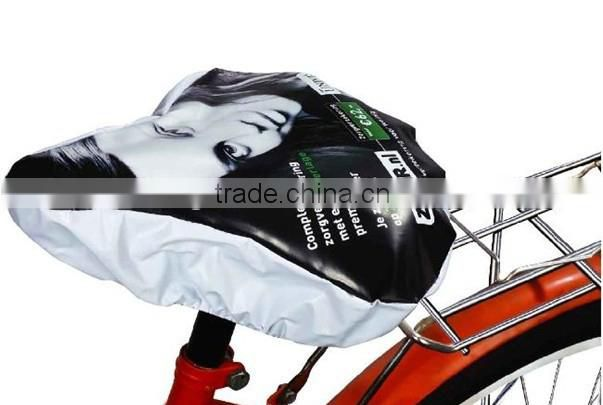 printing black waterproof bicycle seat cover