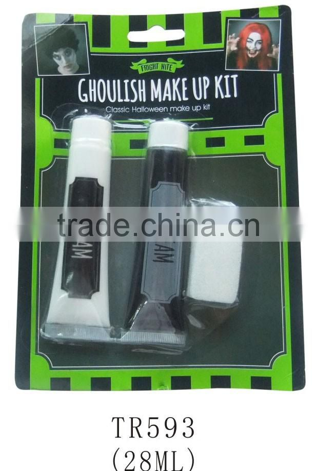 Halloween party eco-friendly ghost makeup kit with fake skin