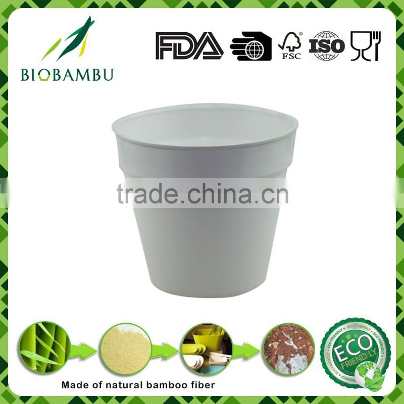 High standard welcome best sale Bamboo Fiber Eco Flower Pot