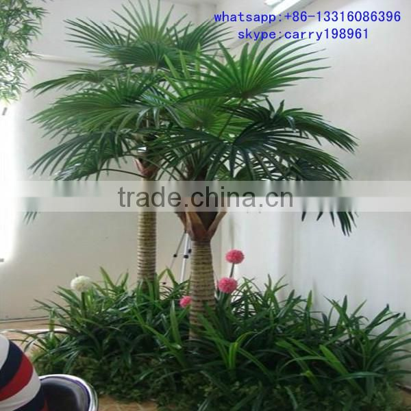 LXY081128 plastic palm tree indoor decoration artificial mini palm trees