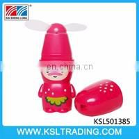 Nice design bottle shape mini fan toy six style mixs
