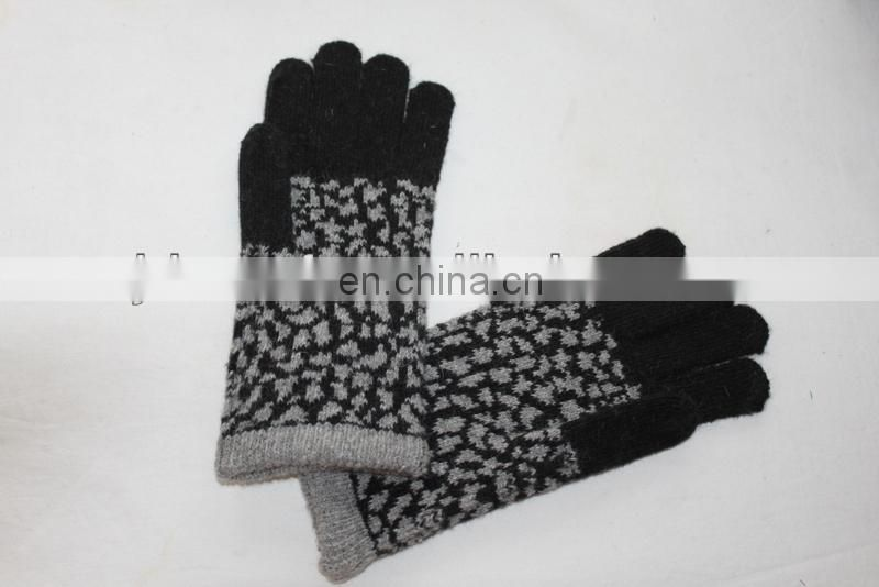 rabbit fur gloves (JDG-S5C#) hijab fabric#) knit glove