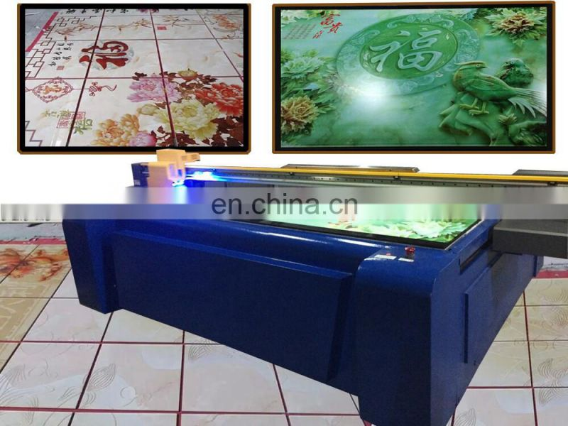 Double head 2 meter size Glass uv faltbed printer