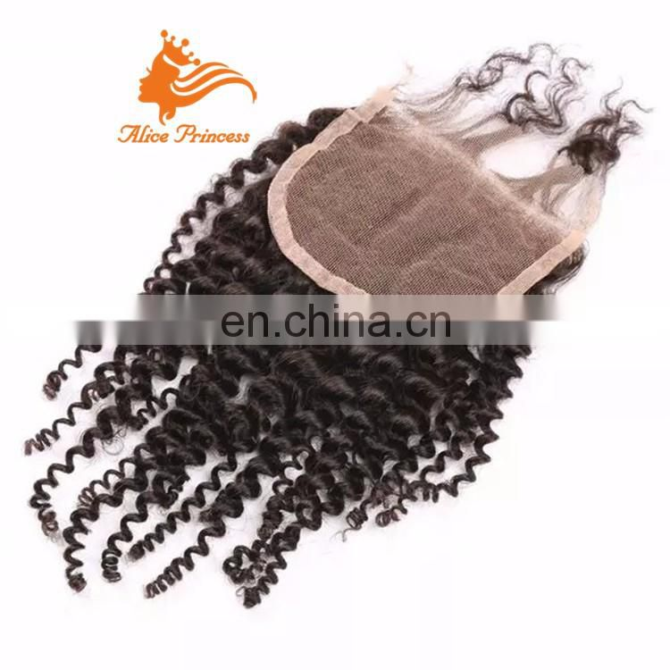 Wholesale 8A Grade Unprocessed kinky curly Brazilian Hair Lace Closure Cheap Brazilian Human Virgin Hair